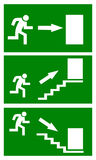 Emergency exit sign. Fire emergency exit sign, vector illustration Royalty Free Stock Photography