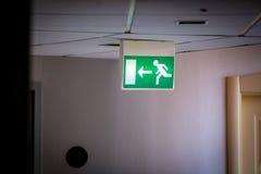 Emergency Exit Sign Stock Photos