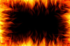 Fire photo frame Stock Image