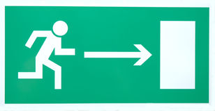 Emergency exit sign isolated Royalty Free Stock Photos