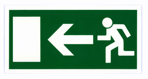 Emergency exit sign isolated Royalty Free Stock Photography