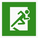 Emergency exit sign. Running man silhouette illustration Royalty Free Stock Photo