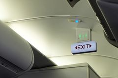 Emergency exit sign and toilet sign Stock Image