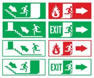 Emergency exit sign. Vector illustration of the Emergency exit sign Stock Photos