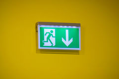 Emergency exit - Stock Image Royalty Free Stock Image
