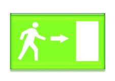 Emergency Exit Symbol Stock Image
