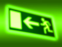 Emergency exit symbol background Royalty Free Stock Images