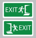 Emergency Exit symbol in green background-Vector vector illustration