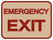Emergency Exit Symbol Sign, Vector Illustration, Isolate On White Background Label. EPS10 royalty free illustration