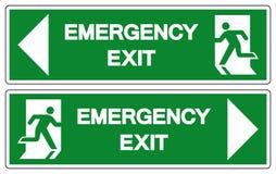 Emergency Exit Symbol Sign, Vector Illustration, Isolate On White Background Label. EPS10 stock illustration