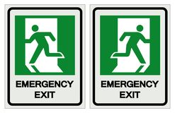 Emergency Exit Symbol Sign, Vector Illustration, Isolate On White Background Label. EPS10 vector illustration