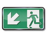Emergency exit to the left below Royalty Free Stock Photos