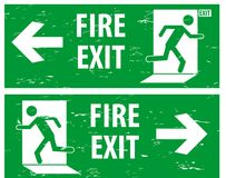 Emergency Exit in vintage style. Stock Photo