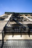 Emergency fire escape. Typical emergency fire escape stairs Royalty Free Stock Photos