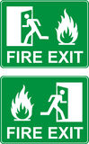 Emergency fire exit door. Vector Stock Photos