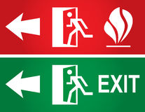Emergency fire exit door Royalty Free Stock Photography