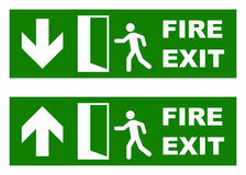 Emergency fire exit. Vector sign isolated on white background stock illustration