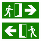 Emergency fire exit. Vector sign isolated on white background vector illustration