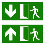 Emergency fire exit. Vector sign isolated on white background royalty free illustration