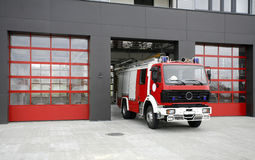 Emergency fire rescue truck Royalty Free Stock Photo