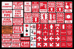 Emergency Fire Sings Royalty Free Stock Photography
