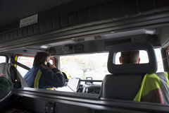 emergency firefighters scene their to way στοκ εικόνα με δικαίωμα ελεύθερης χρήσης