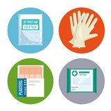 Emergency first aid icons. Vector illustration design Royalty Free Stock Image