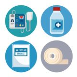 Emergency first aid icons. Vector illustration design Stock Photography