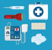 Emergency first aid icons. Vector illustration design Royalty Free Stock Images