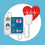 Emergency first aid icons. Vector illustration design Royalty Free Stock Photo