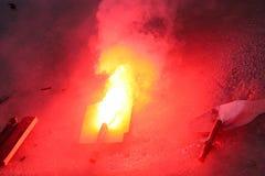Emergency flare burning Royalty Free Stock Images