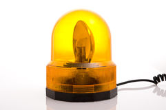 Emergency flashing lights. On the white background Royalty Free Stock Photos