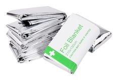 Free Emergency Foil Space Blankets Royalty Free Stock Images - 107114729