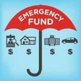 Emergency Fund Icons Stock Photo