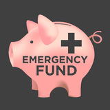 Emergency Fund Piggy Bank. Financial Emergency Fund Piggy Bank Royalty Free Stock Image