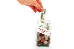 Emergency funds Royalty Free Stock Image