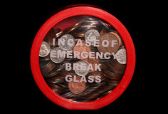 Emergency funds. Studio cut out Royalty Free Stock Photo