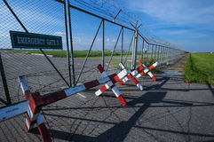 Emergency gate. At near airport Stock Photo