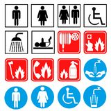 Emergency and healthcare icons concept poster Royalty Free Stock Photos