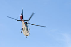 Emergency Helicopter. Leaving scene of accident Stock Photography