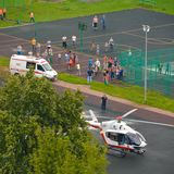 Emergency helicopter Royalty Free Stock Photography