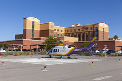 Emergency Helicopter at Southern Hills Hospital in Las Vegas, NV Stock Photography