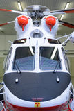 Emergency helicopter standing in the hangar Royalty Free Stock Photography
