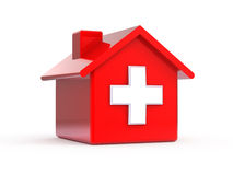 Emergency home. On white - 3d render Royalty Free Stock Image