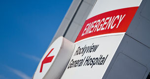 Emergency at hospital Stock Images