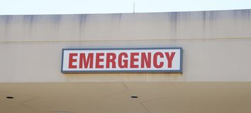 Emergency Hospital Sign Stock Photo