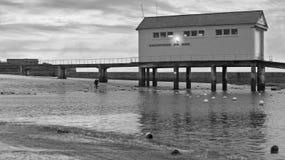 Emergency house. Coastal emergency house near the Atlantic ocean, France. Monochromatic shot Stock Photography