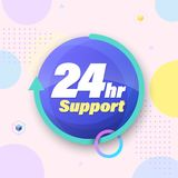 Emergency 24hr services. Template for emergency 24hr services and support. Vector illustration Royalty Free Stock Images