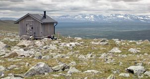 Emergency Hut in Tundra Stock Image