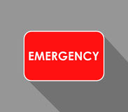 Emergency icon illustrated. On a white background Royalty Free Stock Images